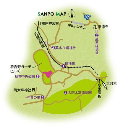 近鉄吉野線 福神駅 周辺マップ