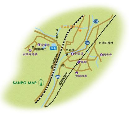 近鉄吉野線 葛駅 周辺マップ