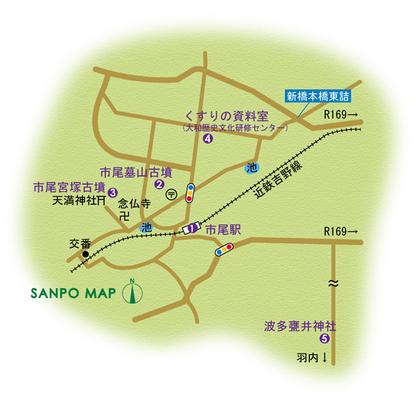 近鉄吉野線 市尾駅 周辺マップ