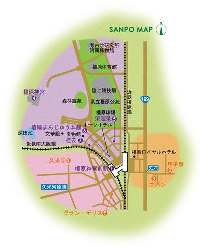 近鉄吉野線/橿原線/南大阪線 橿原神宮前駅 周辺マップ