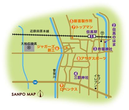 近鉄田原本線 但馬駅 周辺マップ