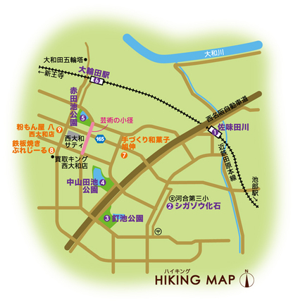 近鉄田原本線 佐味田川駅・大輪田駅 周辺マップ