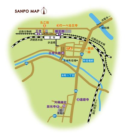 近鉄田原本線/近鉄生駒線 新王寺駅・王寺駅 周辺マップ