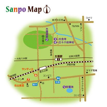 近鉄大阪線 大福駅 周辺マップ