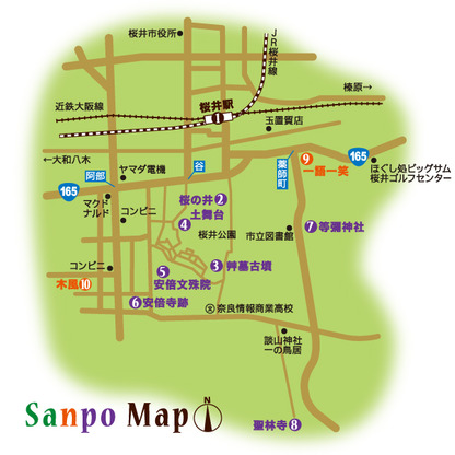近鉄大阪線 桜井駅 周辺マップ